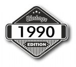VIntage Edition 1990 Classic Retro Cafe Racer Design External Vinyl Car Motorcyle Sticker 85x70mm